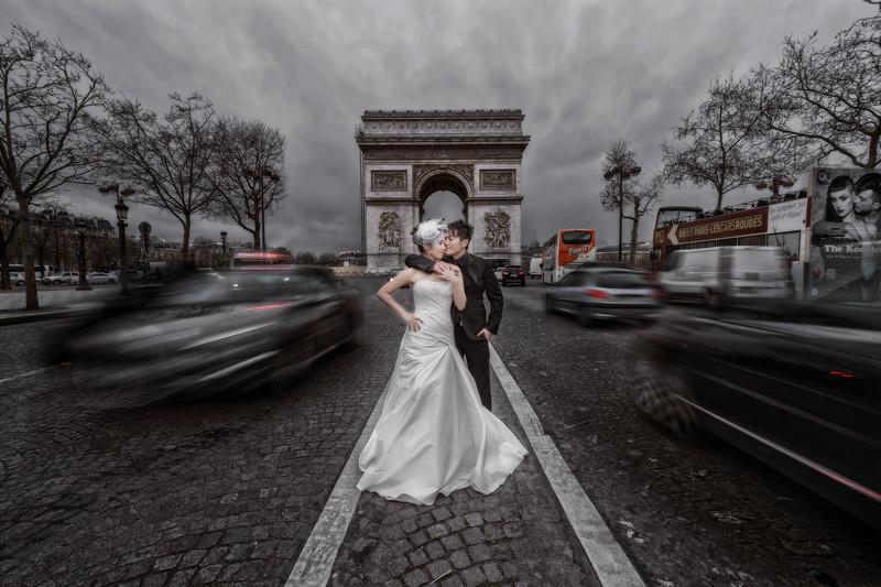 自助婚紗, 自主婚紗, 海外婚紗, 巴黎婚紗, 聖心堂, 聖母院, 巴黎鐵塔, 羅浮宮, 凱旋門, 婚攝東法, 巴黎攻略